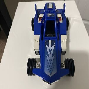 """Power Rangers In  Space Blue Galactic Rover 8"""" Vehicle Car 1998 Bandai MMPR"""