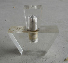 "Vintage 1960s Lucite Perfume Bottle Shaped Lighter 3 3/8"" Tall"