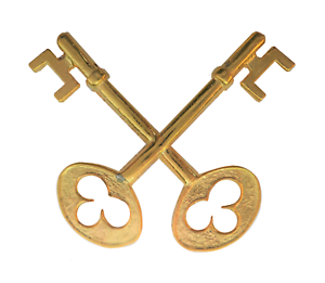 Keys To Heaven Gilded Symbol For Orange Order Collarette
