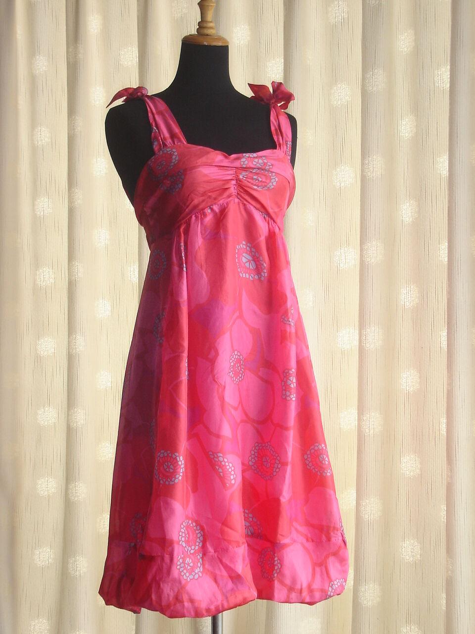 NWT VINTAGE MARC JACOBS VINTAGE SILK Rosa FLORAL BUBBLE TULIP DRESS 6 2 34