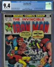 #1 Original Owner Iron Man #55 CGC NM 9.4 OWTWP 1st Thanos Drax Avengers 1972!!!