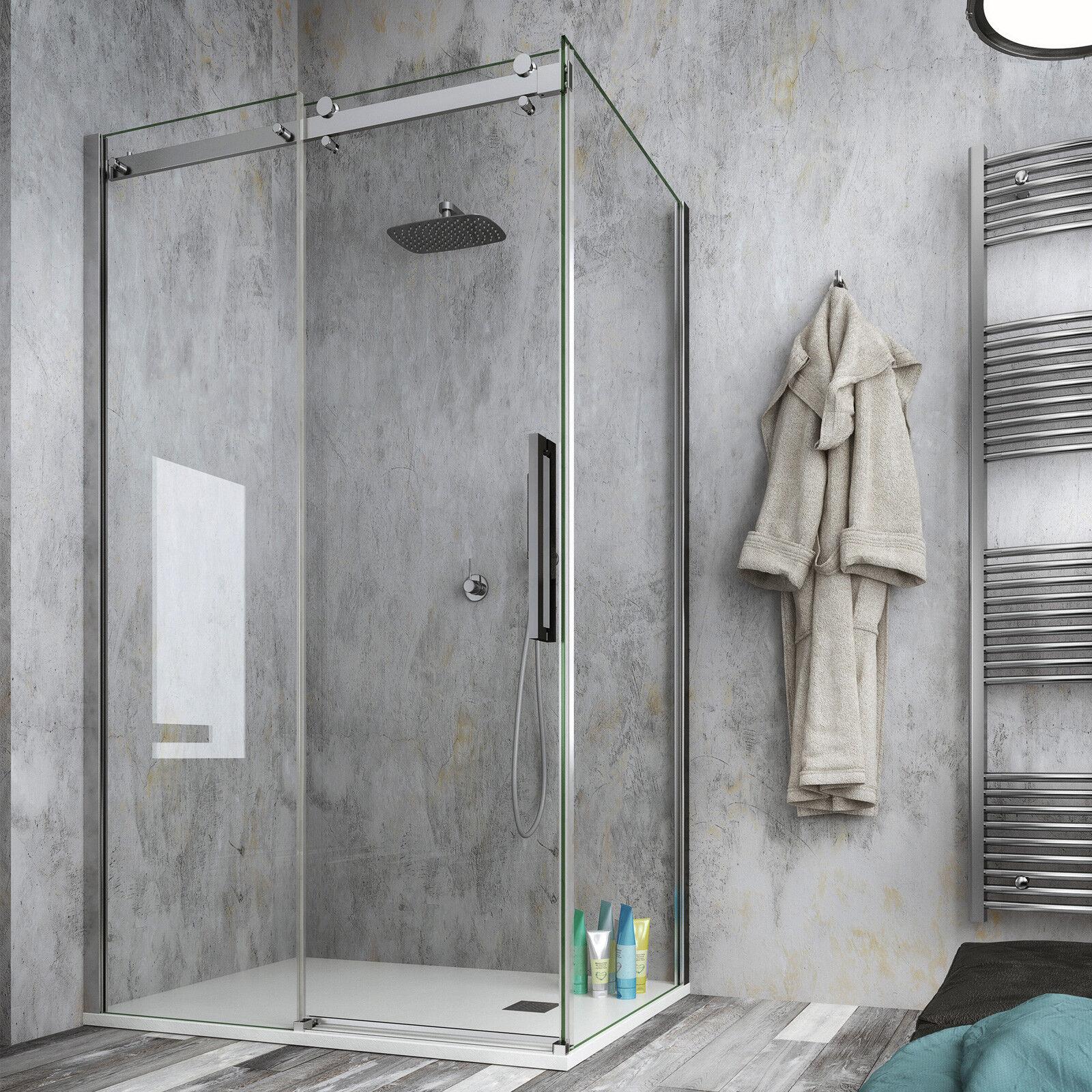 Box doccia 90x160 cristallo anticalcare trasparente 8mm altezza 200h reversibile