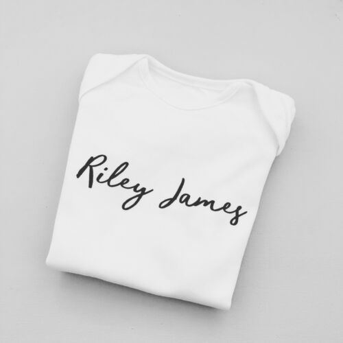 PERSONALISED unisex baby clothing vest babygrow baby shower gift new baby gift