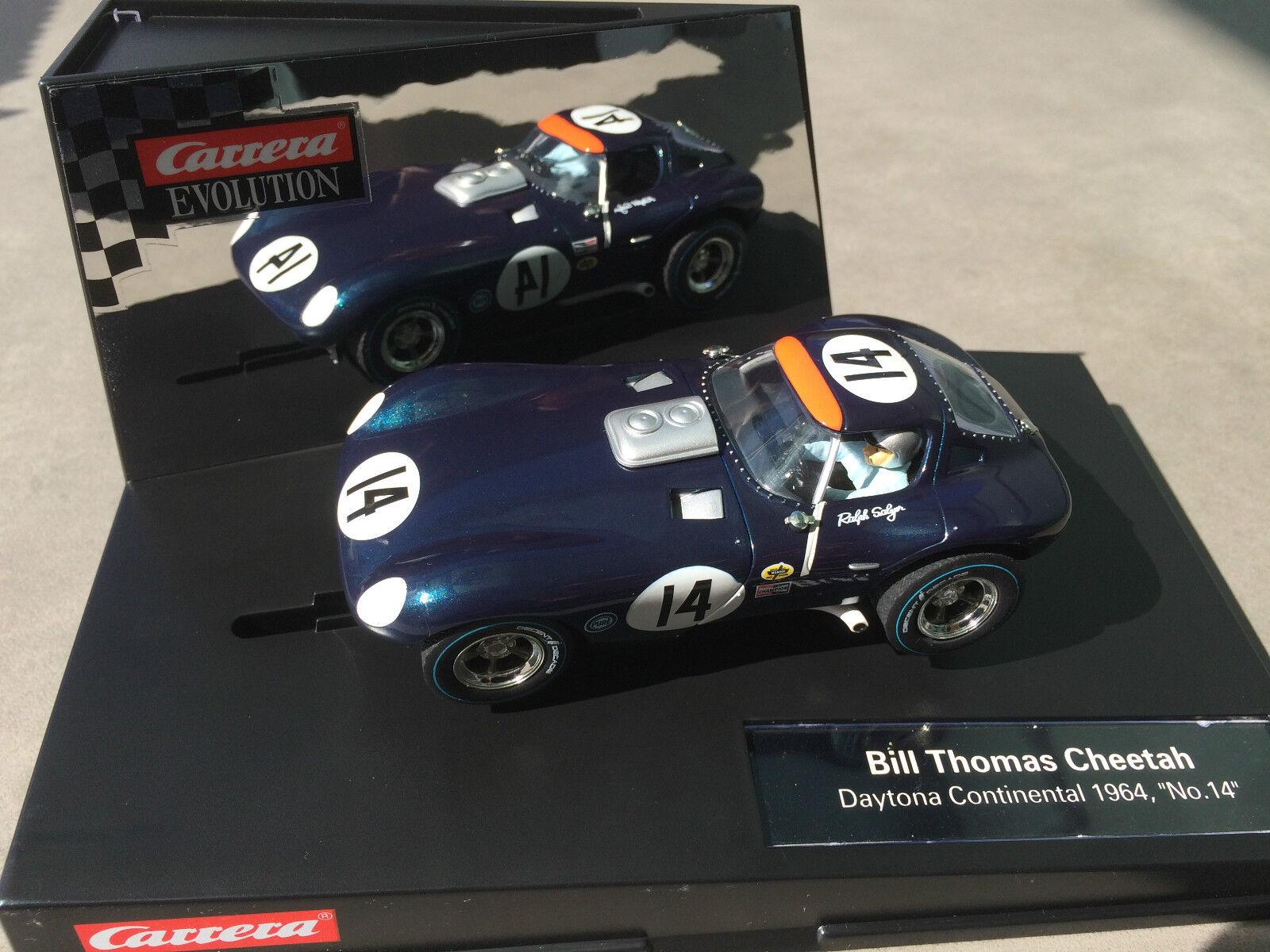 Carrera Evolution 27414 BILL THOMAS CHEETAH DAYTONA CONTINENTAL 1964, no.14 NEW