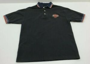 Vintage-90s-Harley-Davidson-Mens-Size-L-Polo-Shirt-Black-Made-in-USA-100-Cotton