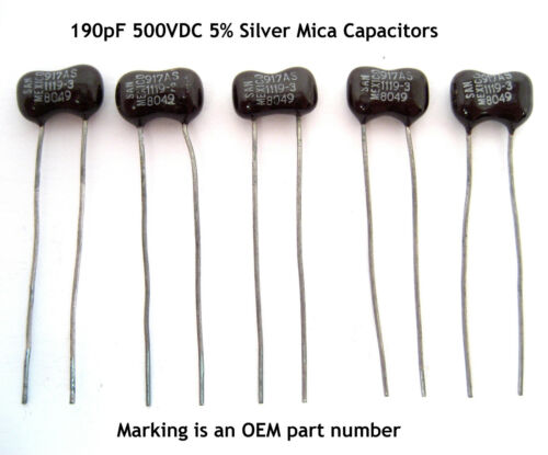 Etc: 5//Lot Amps QRP 190pF 500V Silver Mica Capacitors: Radios Transmitters