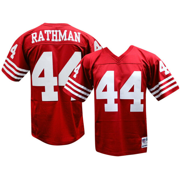 4cf0976abb2 Tom Rathman San Francisco 49ers 1990 Mitchell and Ness Throwback Jersey M