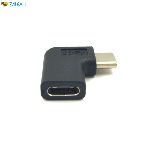 Exuun USB C Type C Male to Female Adapter Right Left Angled 90 Degree USBC USB