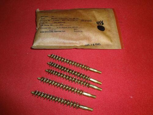 M1 Garand NOS Ten WW2 Original 30 Caliber Brushes from dated Package