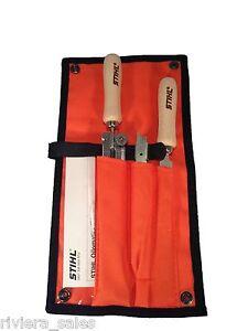 stihl kettens ge sch rfung ablage set feile 56050071029 f r 3 8 pro ebay. Black Bedroom Furniture Sets. Home Design Ideas