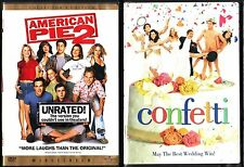 American Pie 2 (Unrated Version) & Confetti - 2 Romantic Comedy Widescreen DVDs