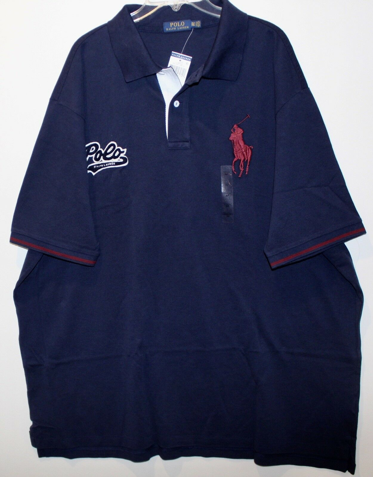 Polo Ralph Lauren Big and Tall Mens Navy bluee Polo Big Pony Rugby Shirt NWT XLT