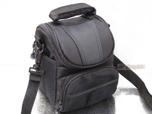 V91 Waterproof Carrying Camera Camcorder Case Cover Shoulder Bag Black for Nikon