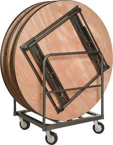 8 runde klapptische banketttische 152 cm komplett mit transportwagen neu ebay - Runde banketttische kaufen ...