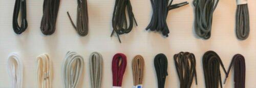 1 Paar Schnürsenkel Schuhbänder 150 cm rund-dünn viele Farben
