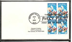 US-SC-3534a-That-039-s-All-Folks-FDC-No-Cachet