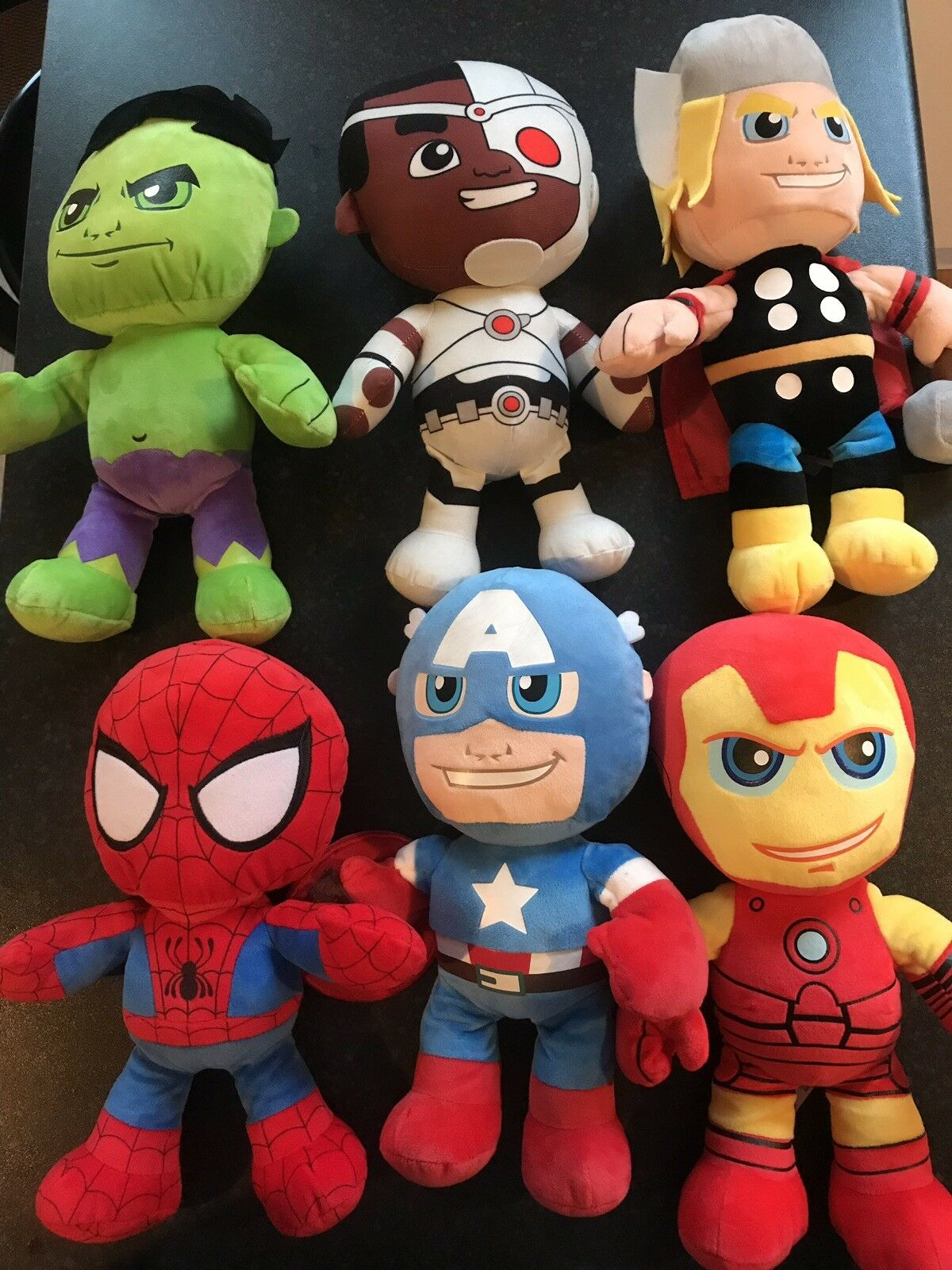 Bundle Of Marvel & DC Soft Toys