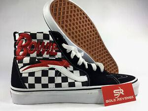 NEW-Vans-x-David-Bowie-Sk8-Hi-Bowie-Check-Black-amp-White-Skate-Shoes-Mens-Womens