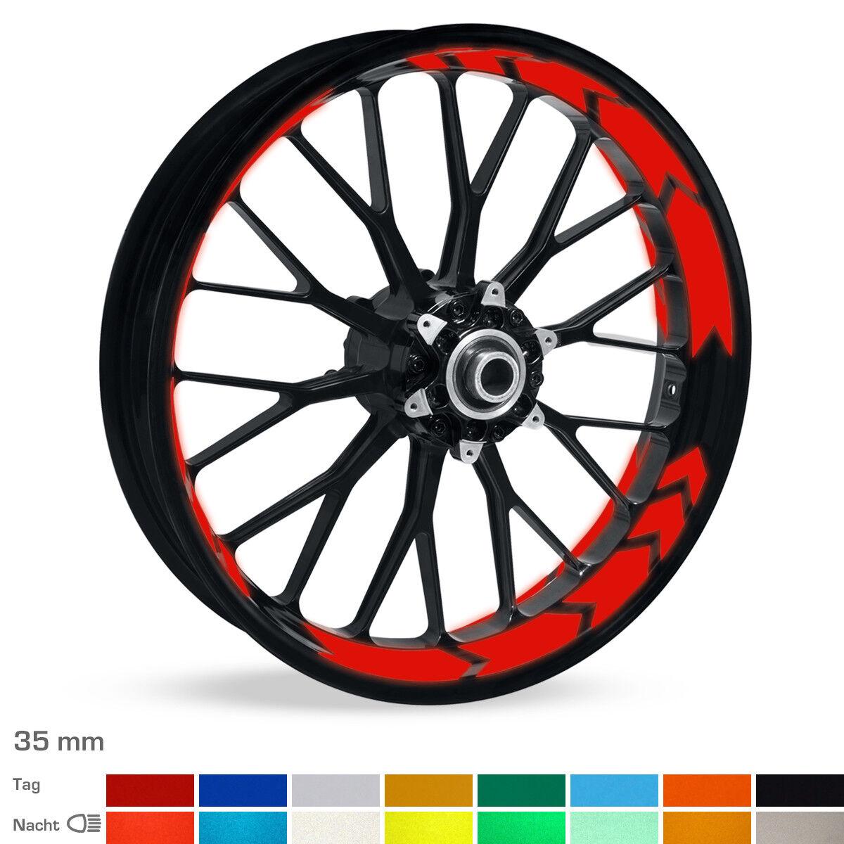Reflektierende Reflektierende Reflektierende Arrow-Felgenbettaufkleber 16 -19  ver. Farben & Breiten Auto 334ad0