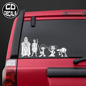 Star Wars Stick Figure Family Vinyl Decal Sticker Car Window Wall - Vinyl stickers for car windows
