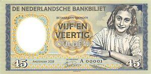 Netherlands-45-Gulden-1945-Anne-Frank-Specimen-Private-Gabris-Note