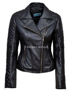 7191c9835639 Image is loading Ladies-Leather-Jacket-Black-Stylish-Fashion-Deluxe-JESSIE-