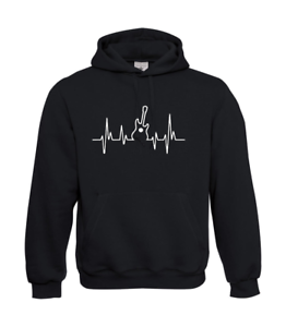 Musikfrequenz-Guitar-Music-I-Patter-I-Fun-I-Funny-to-5XL-I-Men-039-s-Hoodie
