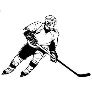 Car Decal Hockey Player Sticker