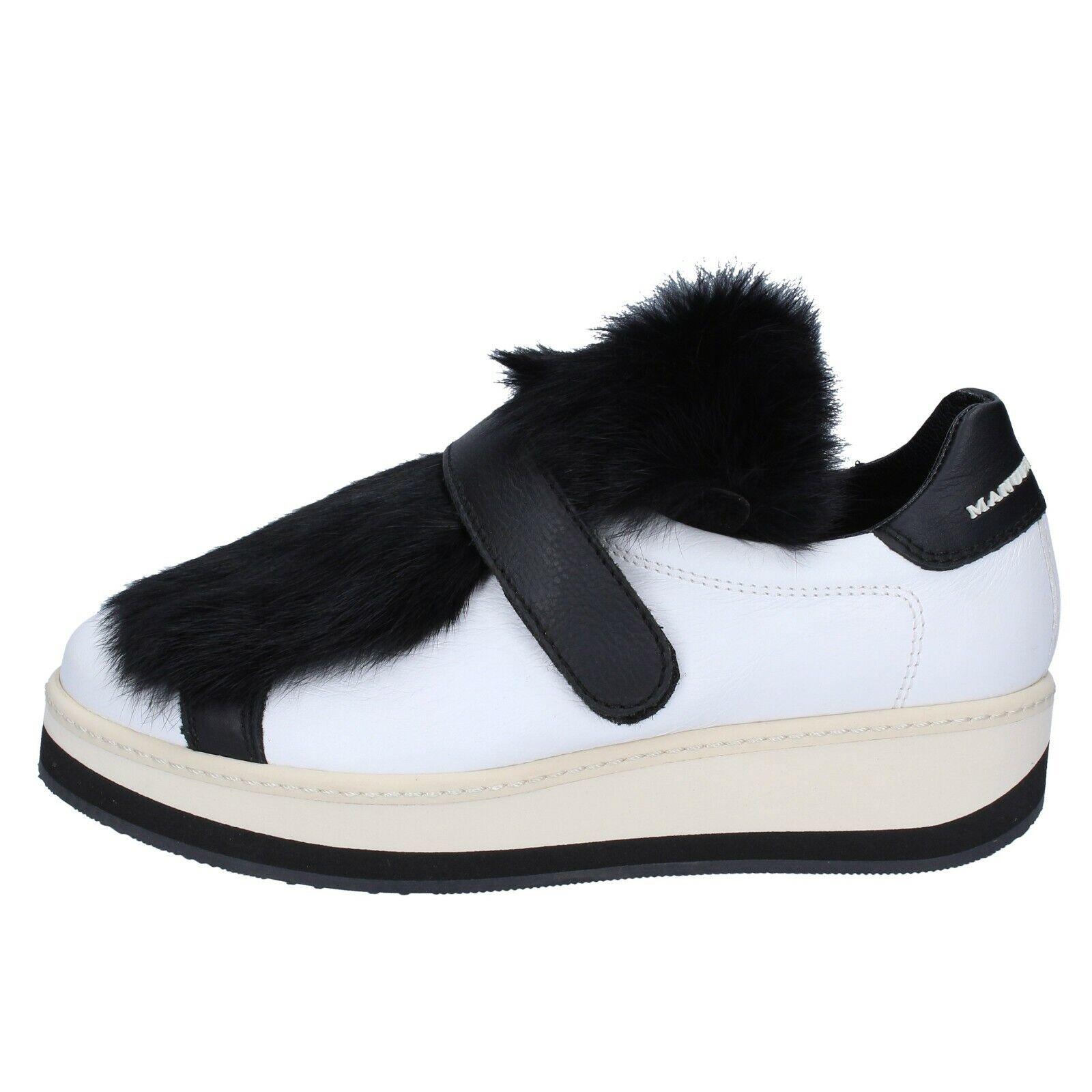 Chaussures Femmes Femmes Femmes Manuel Barcelo 6 (UE 36) Baskets Noir en Cuir Blanc BS330-36 c89560