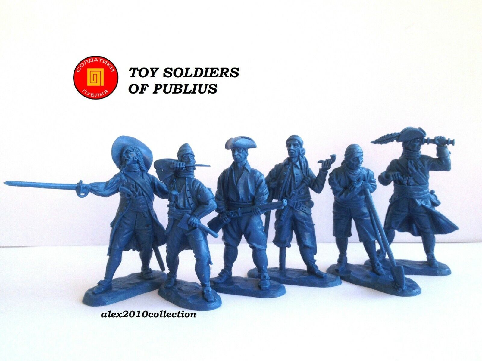 NEW     PUBLIUS  Pirates, Treasure Island, 6 rubber plastic soldiers 1 32