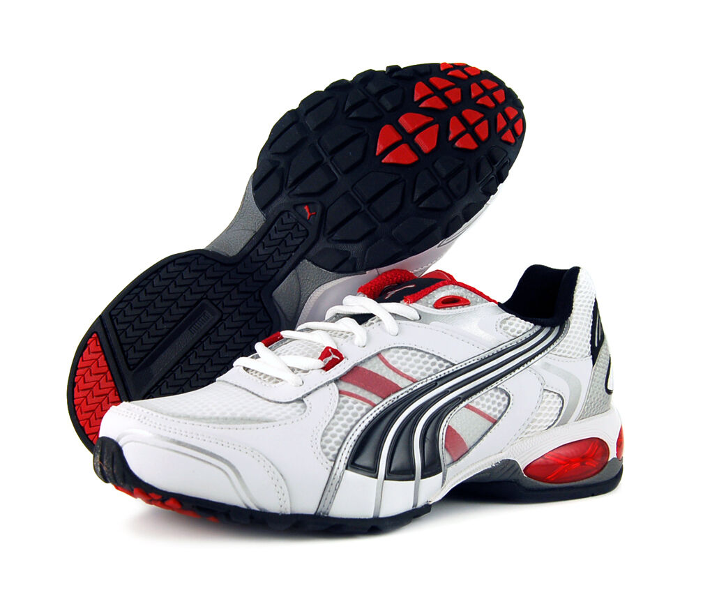 Puma Cell Summanus Running Shoes White Black Red Brand New US 10 Free Shipping