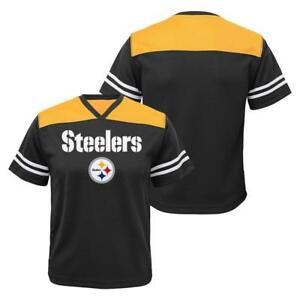 58f5a790d Image is loading NFL-Pittsburgh-Steelers-Youth-Boys-Black-Performance-Jersey -
