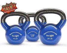 Vinyl Coated Cast Iron Kettlebell Weight Workout Set 10+15+20 lbs - ²KM1UC