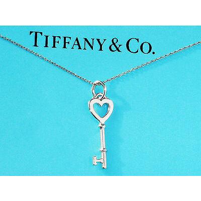 Tiffany & Co Sterling Silver Keys Small Heart Key Necklace