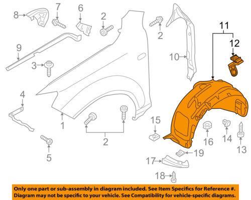 AUDI OEM 11-15 Q7-Front Fender Liner Splash Shield Right 4L0809962E