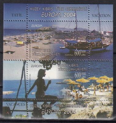 f230n#2 Cept: ** Ausgabe TÜrkisch-zypern 2004 Mi 2 Blöcke 22 A+b Mw 8,-