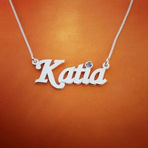 14k white gold necklace name necklace personalized custom made image is loading 14k white gold necklace name necklace personalized custom aloadofball Images