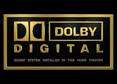 THX Druck DTS 3x Heimkino Schild Onkyo Atmos Auro LG Dolby Digital