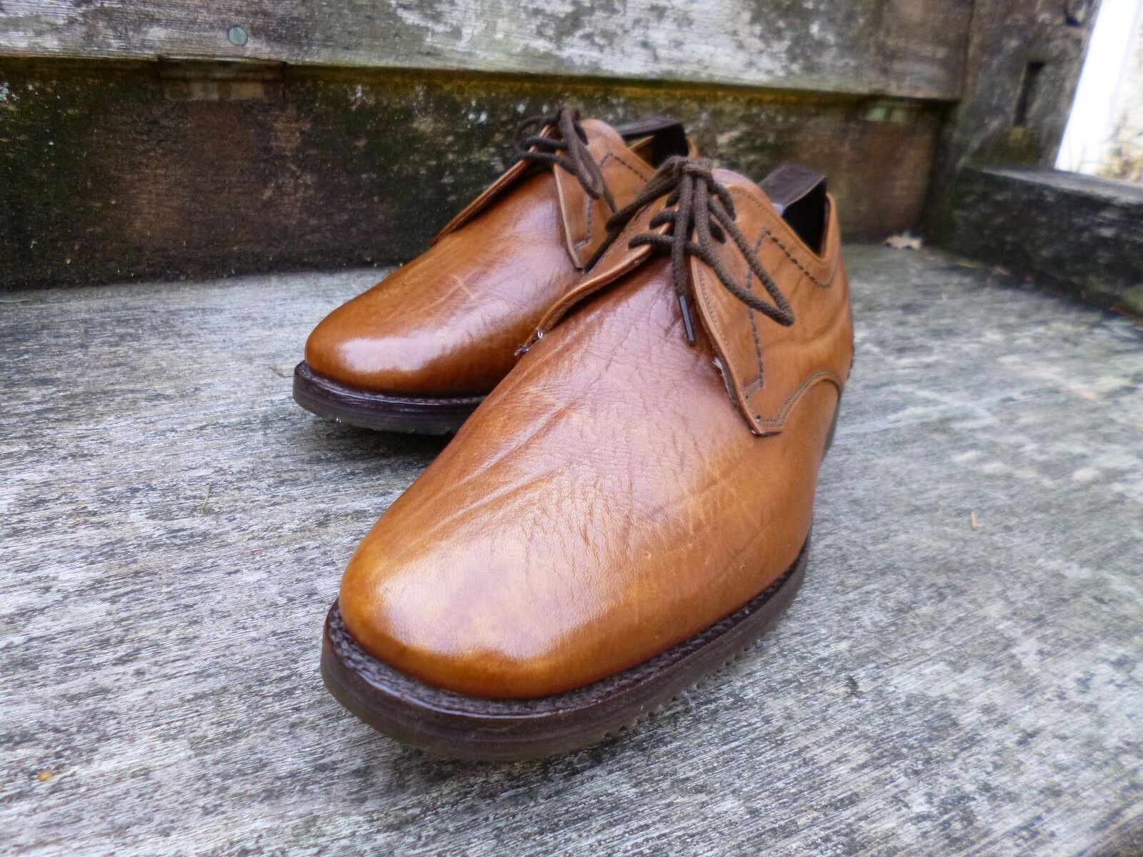 CHEANEY / CHURCH VINTAGE DERBY - UK 7.5 – BROWN / TAN - LAMBOURN- EXCELLENT COND