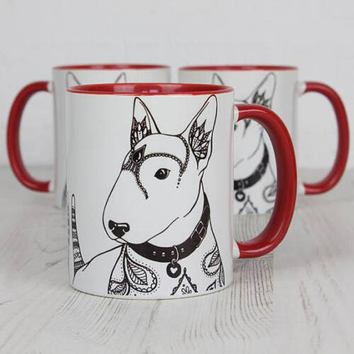 English Bull Terrier Gifts English Bull Terrier Mug Featuring Our Original Art