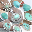 925-SOLID-STERLING-SILVER-HANDMADE-PENDANT-IN-ALL-SHAPE-OF-TIBETAN-TURQUOISE thumbnail 5