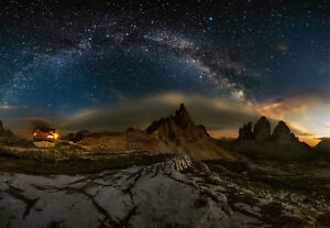 Wall-mural-photo-wallpaper-Dolomites-Sky-Full-of-Stars-Feature-wall-decor