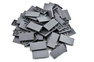 Dark-Bluish-Gray-Tile-2-x-4-TCM-Compatible-Bricks-QTY-25-Pieces
