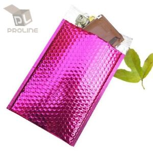 100-0-Glamour-Metallic-Pink-Poly-Bubble-Mailers-Envelopes-Bags-6x10-DVD-Wide-CD