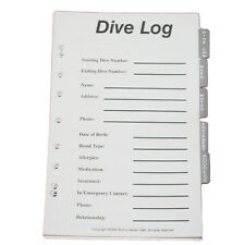 JCS Dive Log Organizer Pages for 3-Ring Binder Dive Log