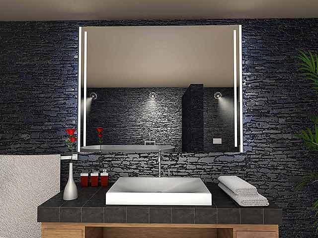 Badspiegel Beziers mit LED Beleuchtung Badezimmerspiegel Bad Spiegel Wandspiegel