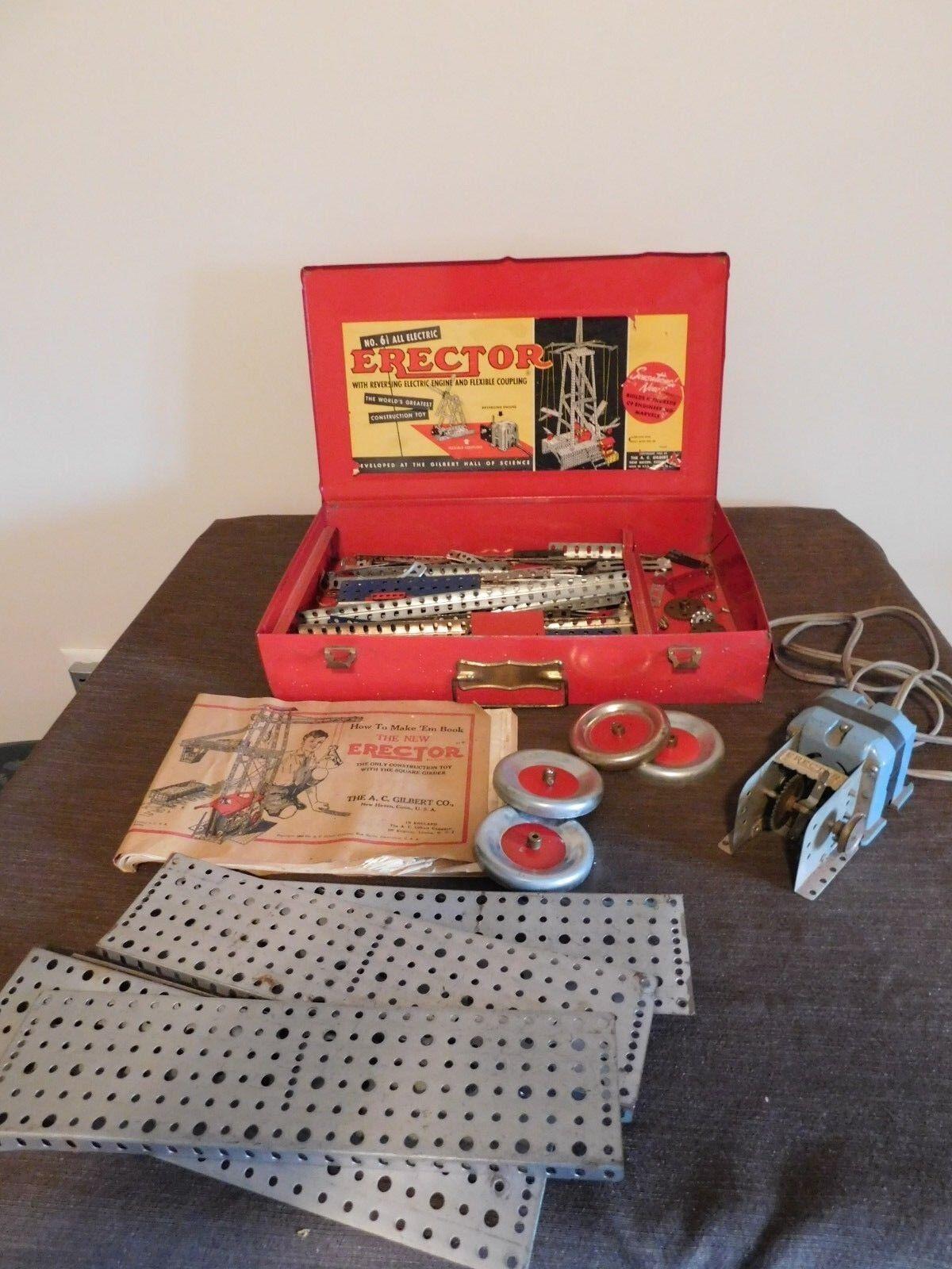 bienvenido a elegir Juguete Vintage 1954 Gilbert Gilbert Gilbert Erector Set no 6 1 2 todos Eléctrico en Caja De Metal  en stock