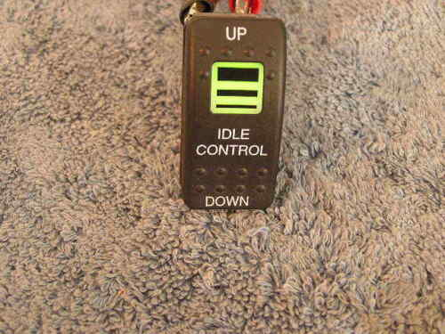 RV Carling IDLE CONTROL Dash Rocker Switch 5 Pole Momentary 12v 20a  LED light