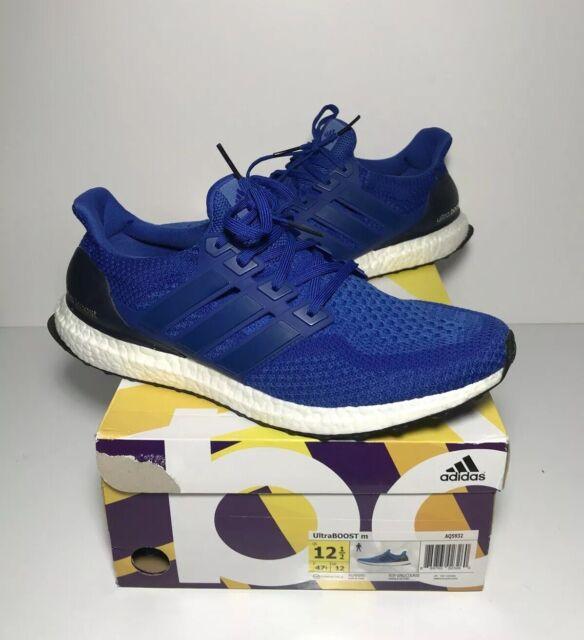 Adidas Ultra Boost 2.0 Collegiate Royal Blue Running Men's Size 12.5 US AQ5932