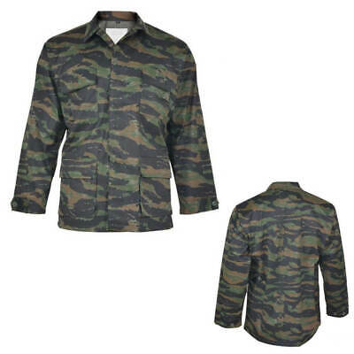 US BDU Field Jacket Shirt Top Coat Army Military All Sizes Tiger Stripe Camo
